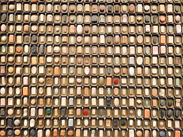 A favorite shot from our Kansas City trip a couple years ago! From the @kempermuseum, June Ahrens' Used and Worn installation. (This was @anniedsouz's phone background for a while.) And sure, it is technically a wall of trash (soap, rocks and sardine cans)... but it's beautiful. #themidwestival #midwestivalxkcmo 📷: @anniedsouz