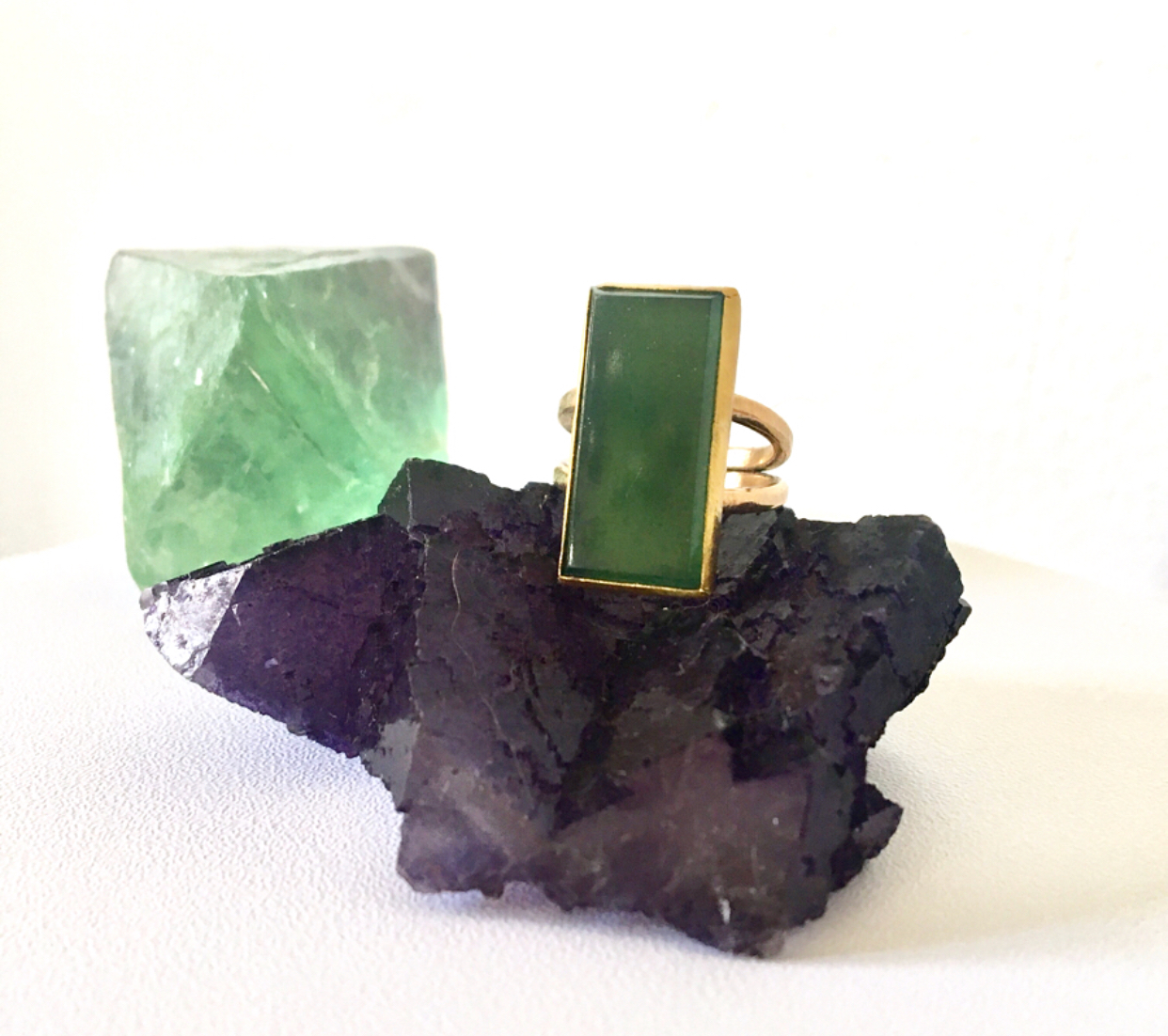 Amazing antique jade heirloom with 14k and 22k gold