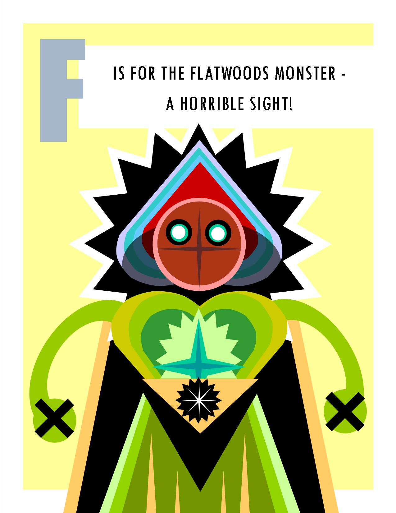 F is for the Flatwoods Monster - a Horrible Sight!