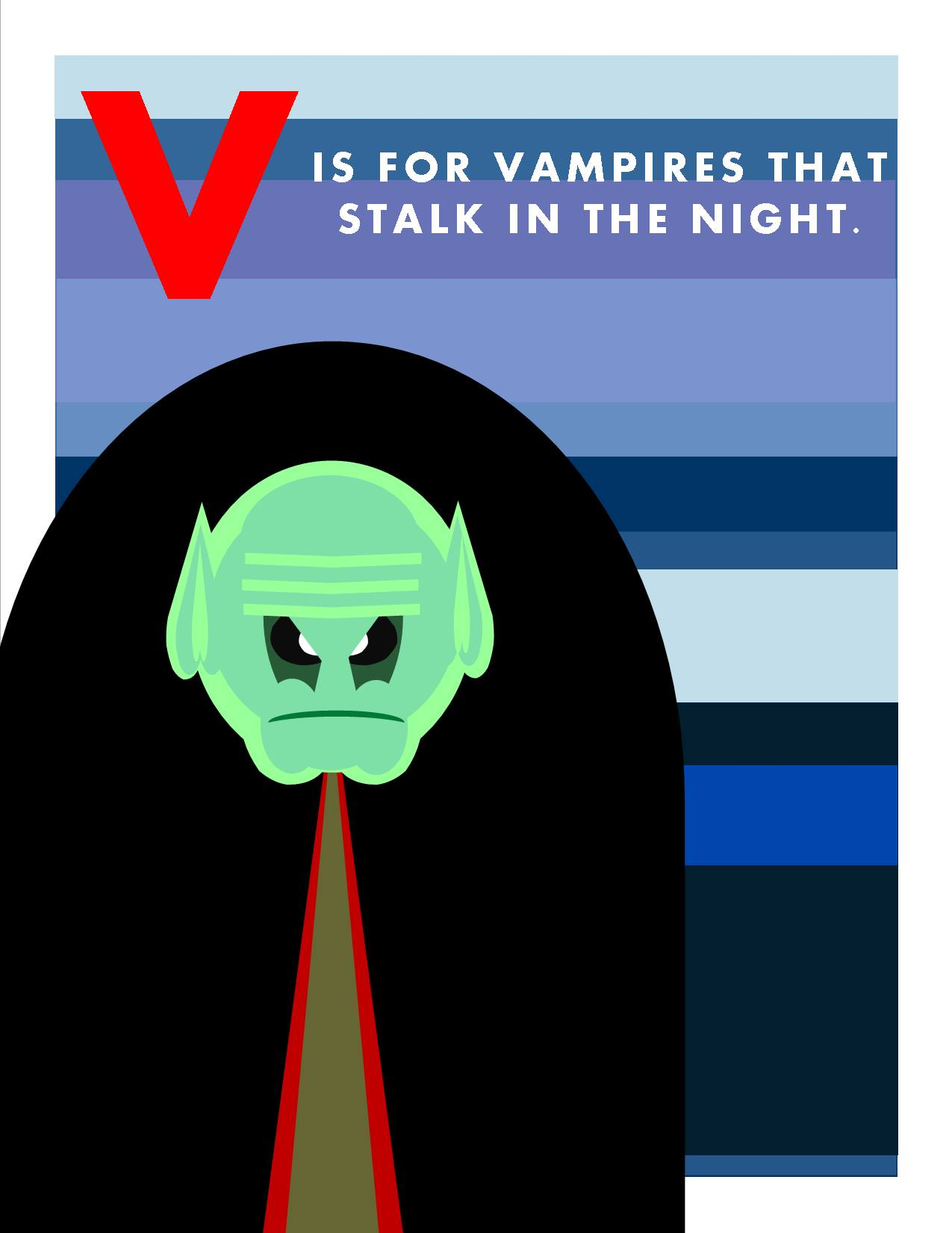 V is for Vampires that Stalk in the Night