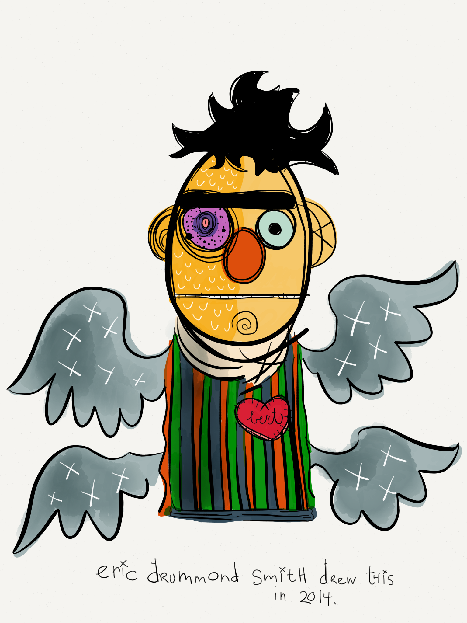 Self-Portrait as Bert Seraph