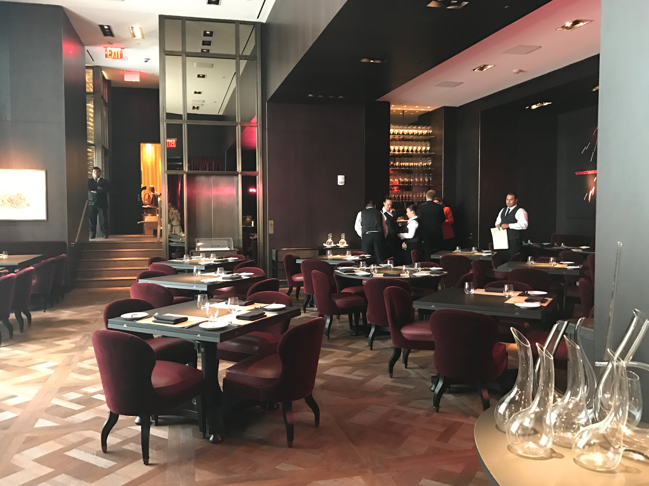 Fine dining at the Four Seasons Downtown