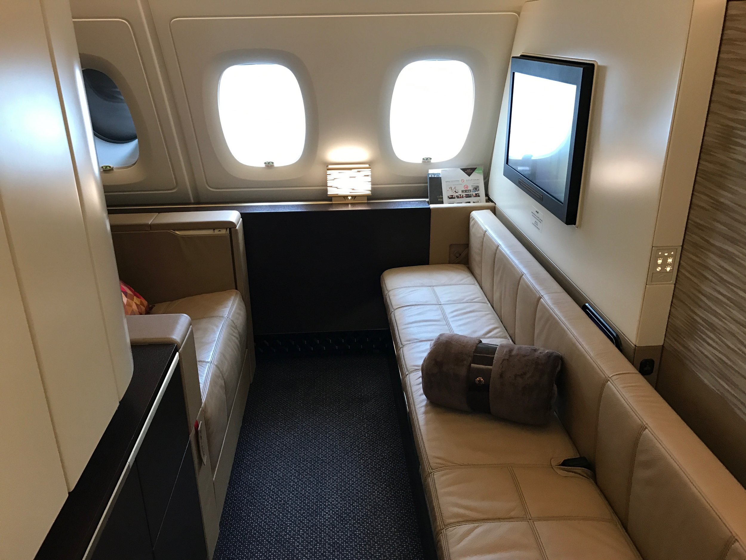 First Class with Separate Bed on the A380