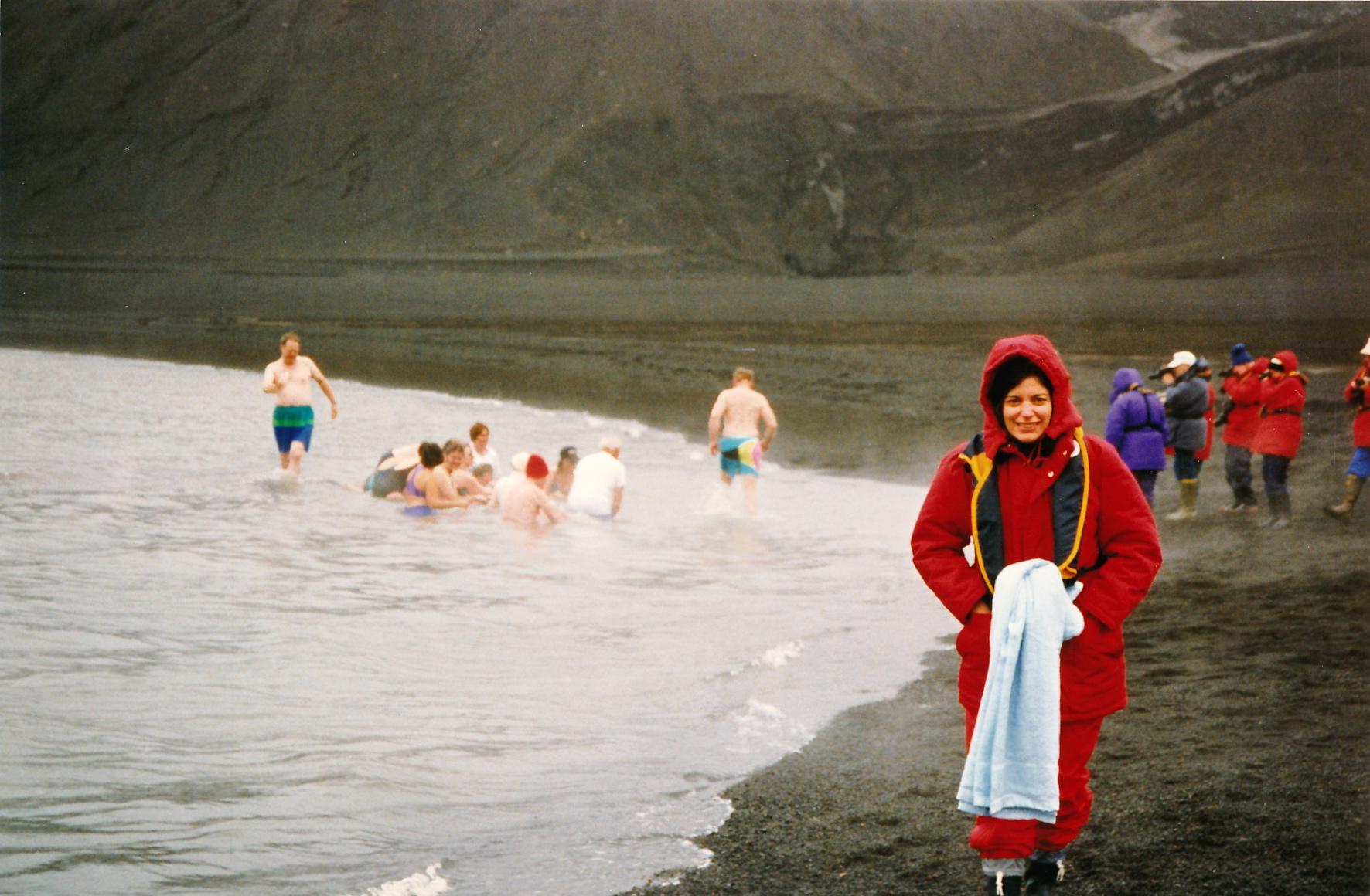 Swim in Deception Island