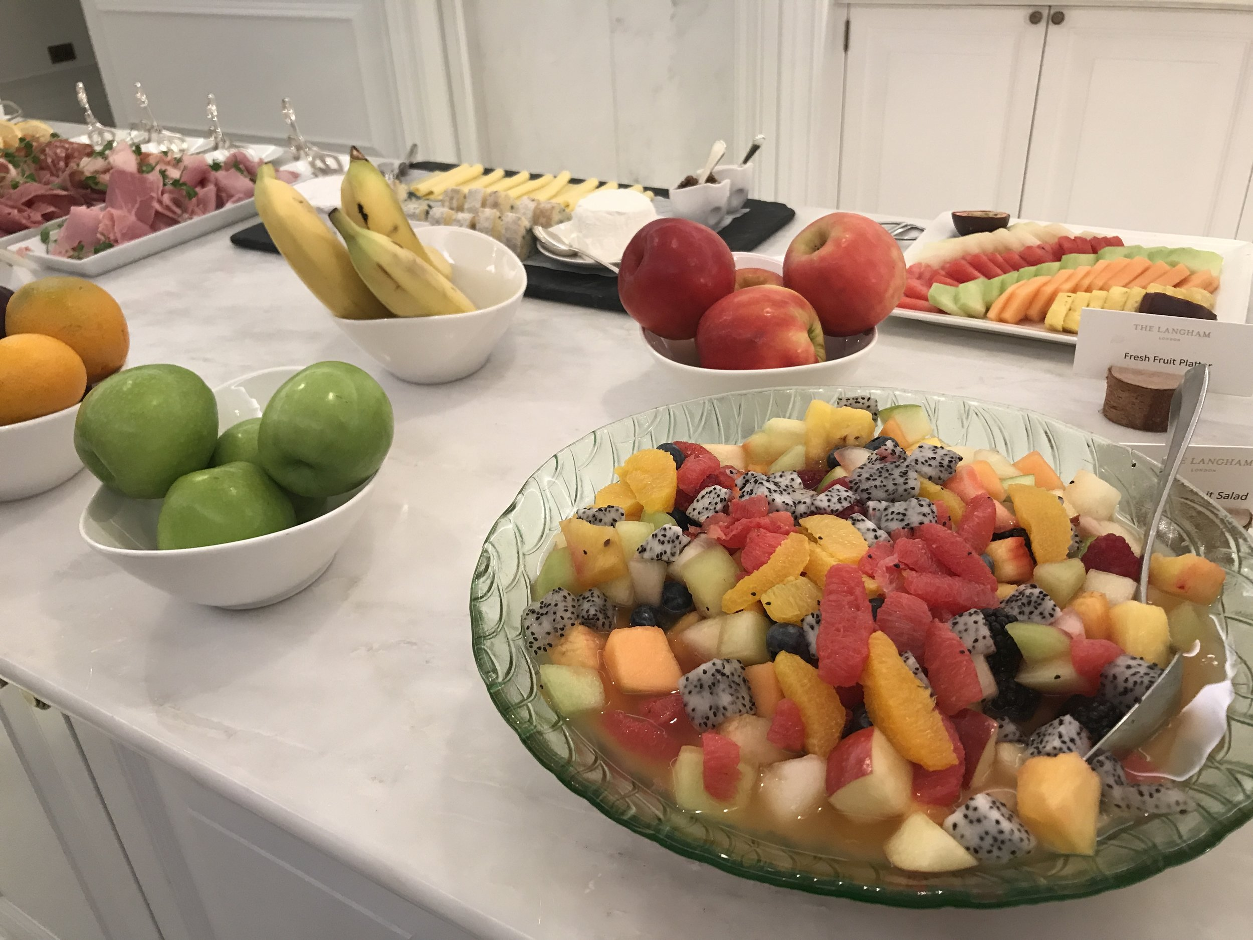 Langham healthy breakfast options