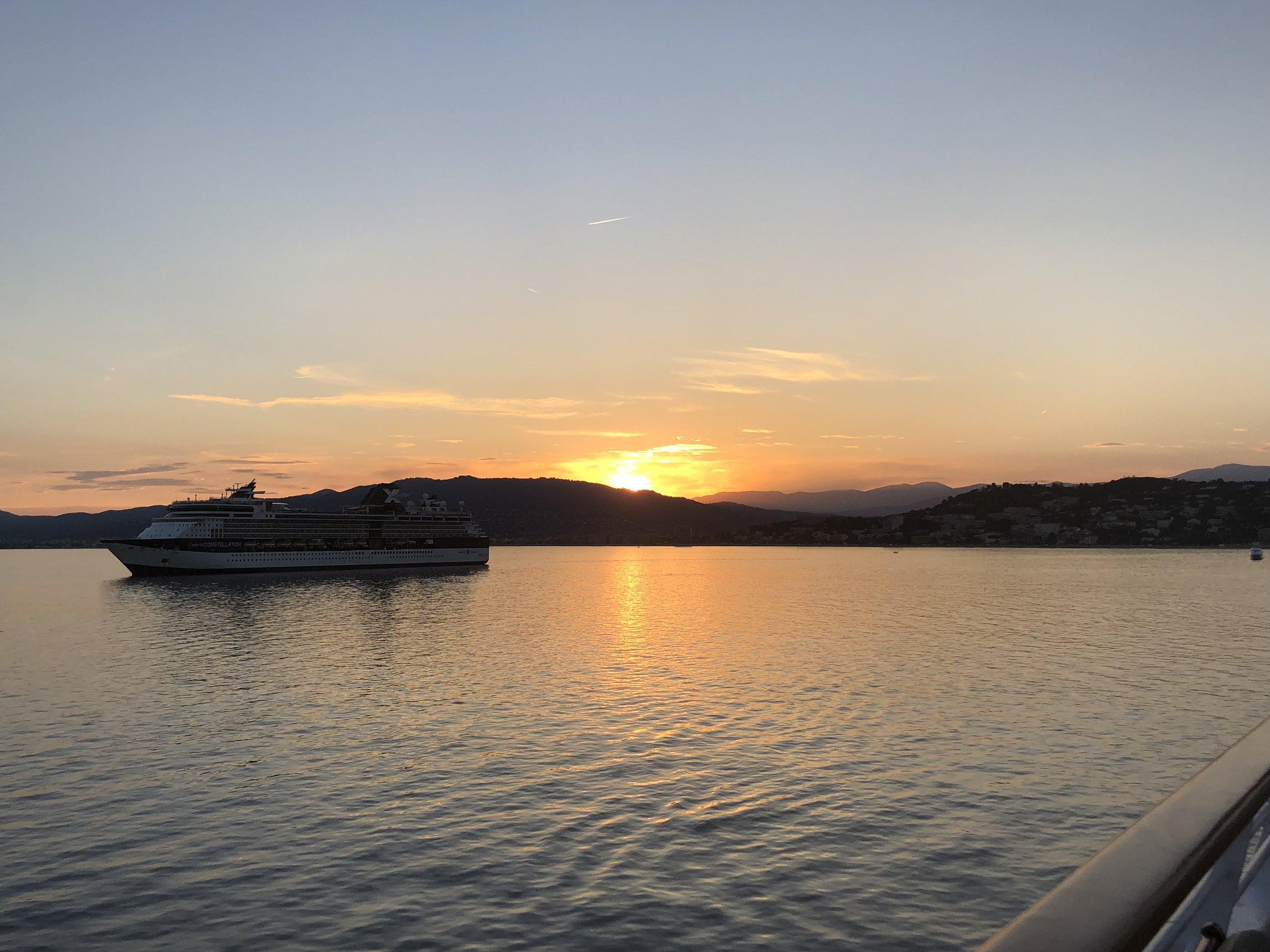 Enjoy sunset views while dining