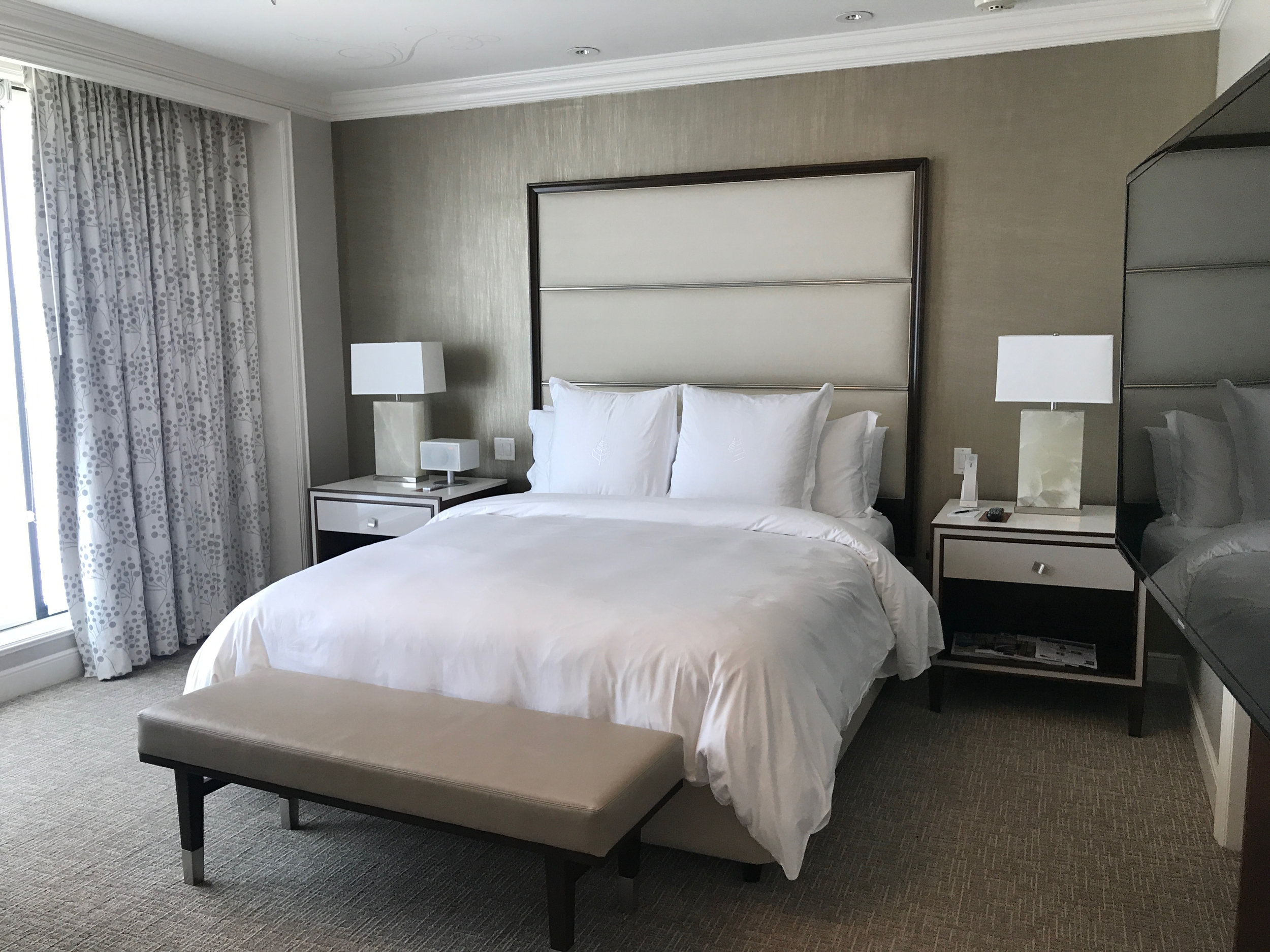 Enjoy the comfort of the Four Seasons bed