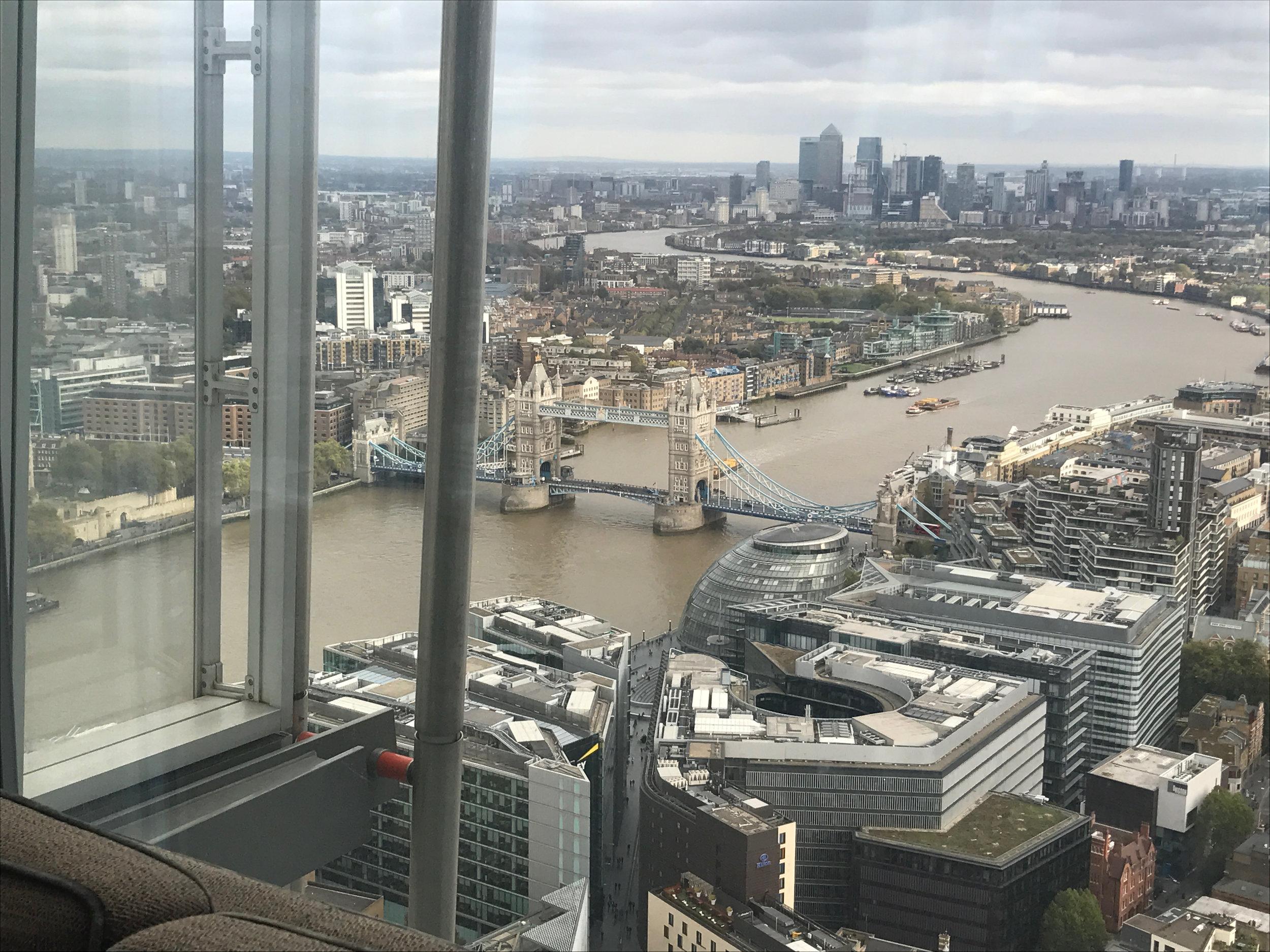 Enjoy the fantastic view from the Shangri-La, Shard, London
