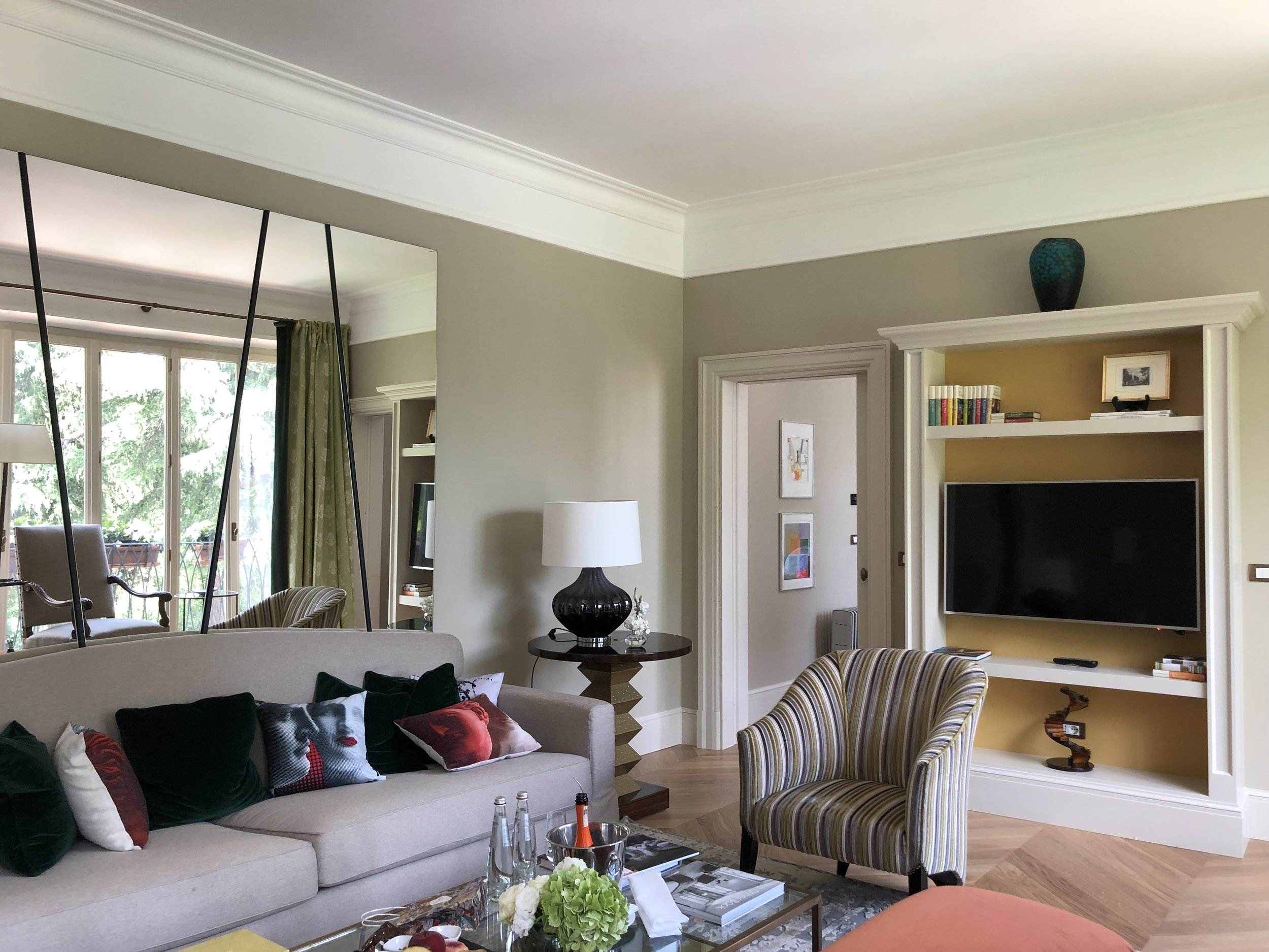 Relax in a suite blending contemporary and classic elements