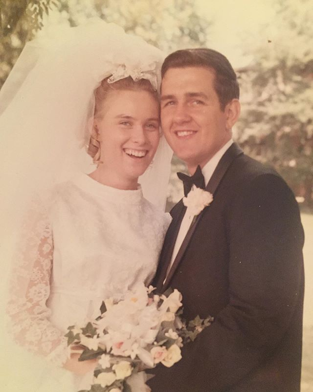 A couple of babies got married 49 years ago today and made the most generous, welcoming, laughter-filled life together. Their days have not been easy, but they keep on choosing and loving each other. Here's to my sweet, strong parents on their anniversary and here's to the years ahead.