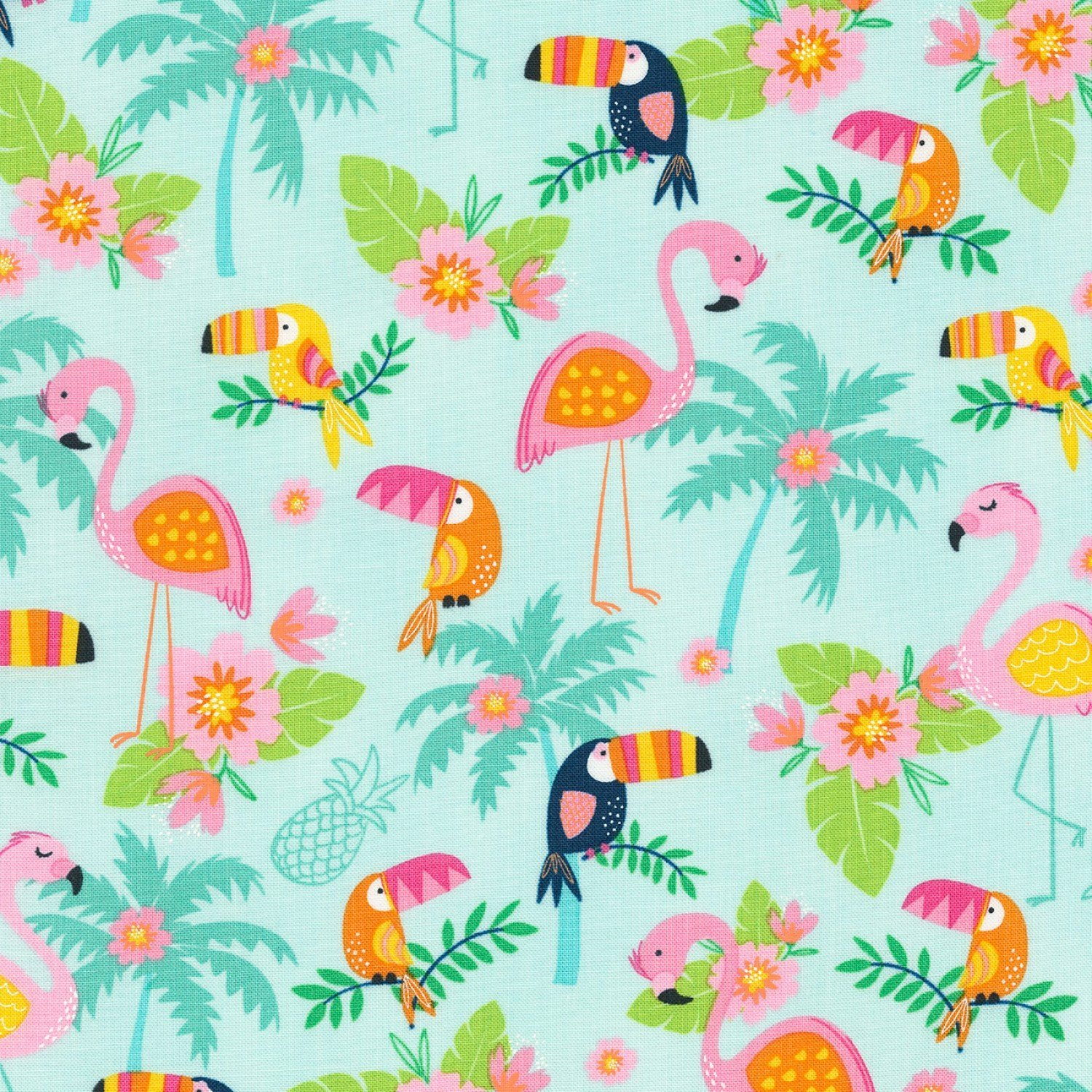 Toucans and Flamingos