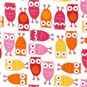 Owls in Pink - Corduroy