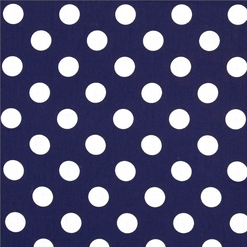 Medium Spots in Navy
