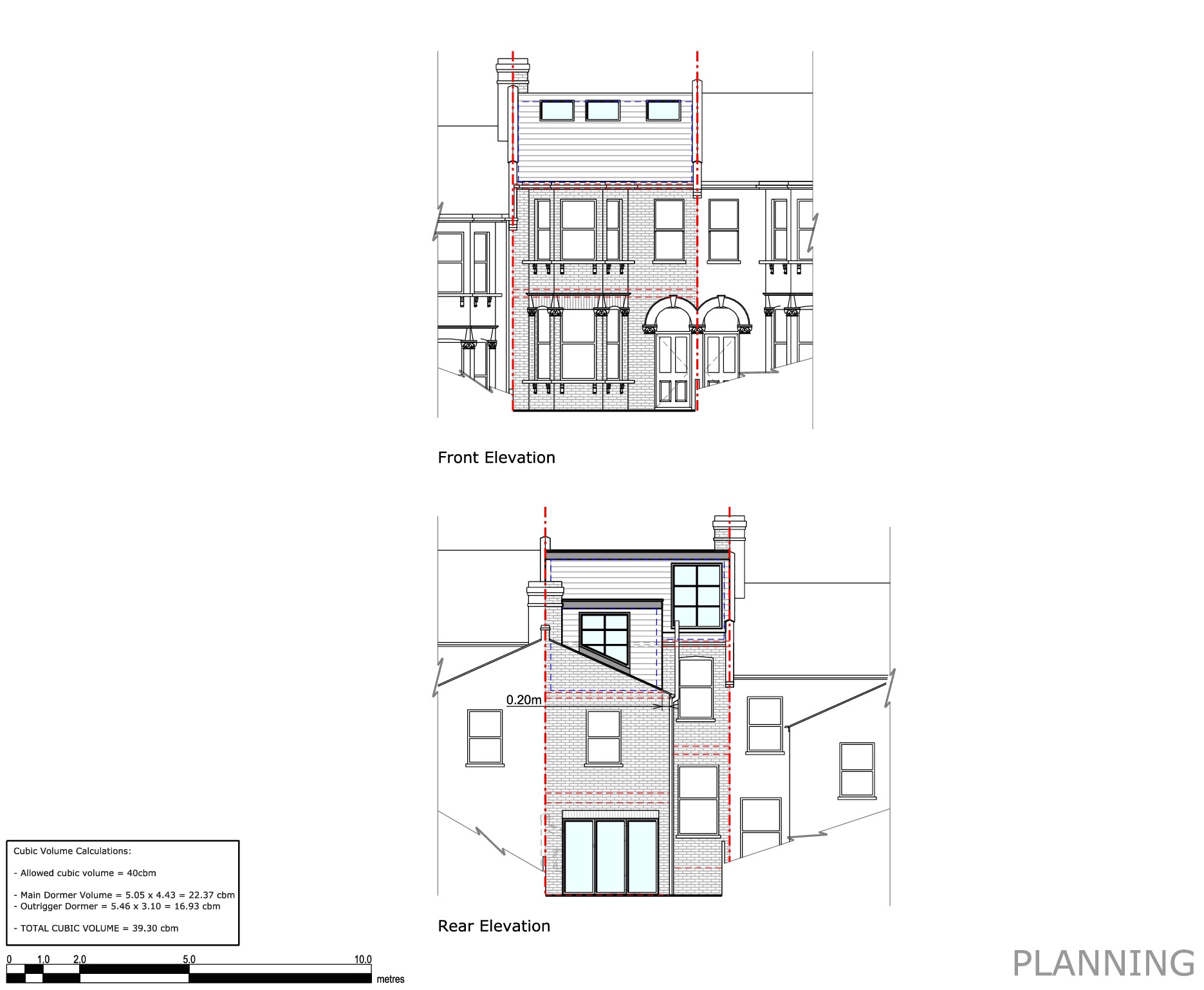 Proposed Elevations Front and Rear