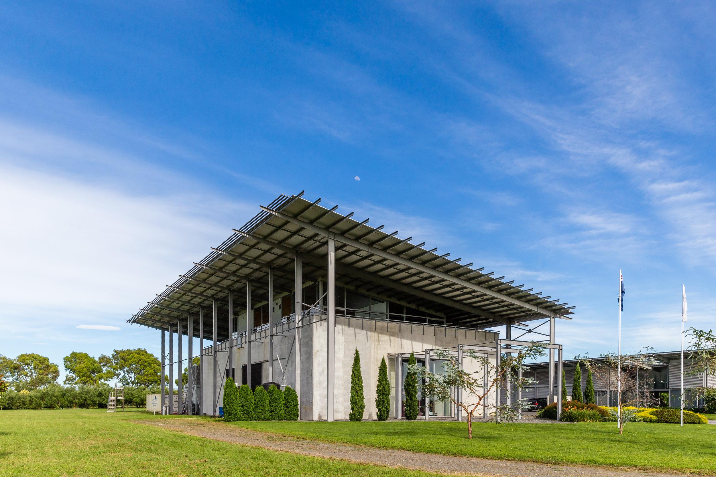 The barrel hall and executive offices at Paritua Vineyard