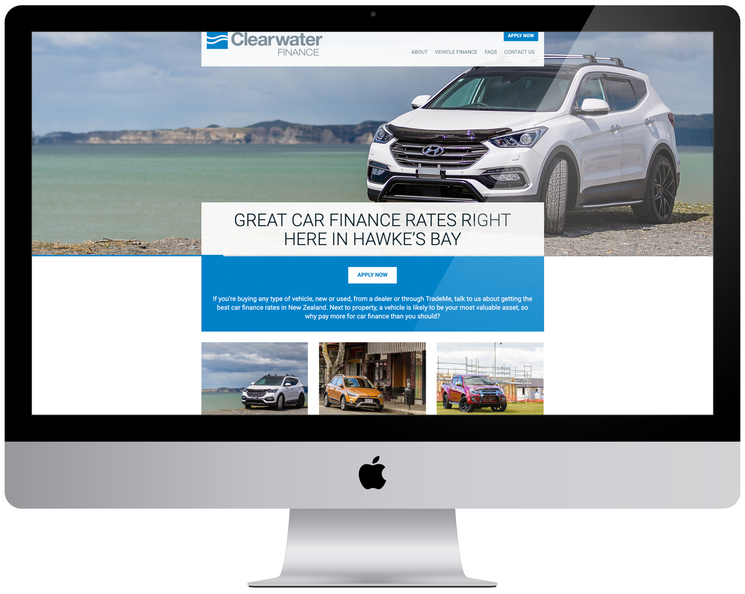 Clearwater Finance website home page