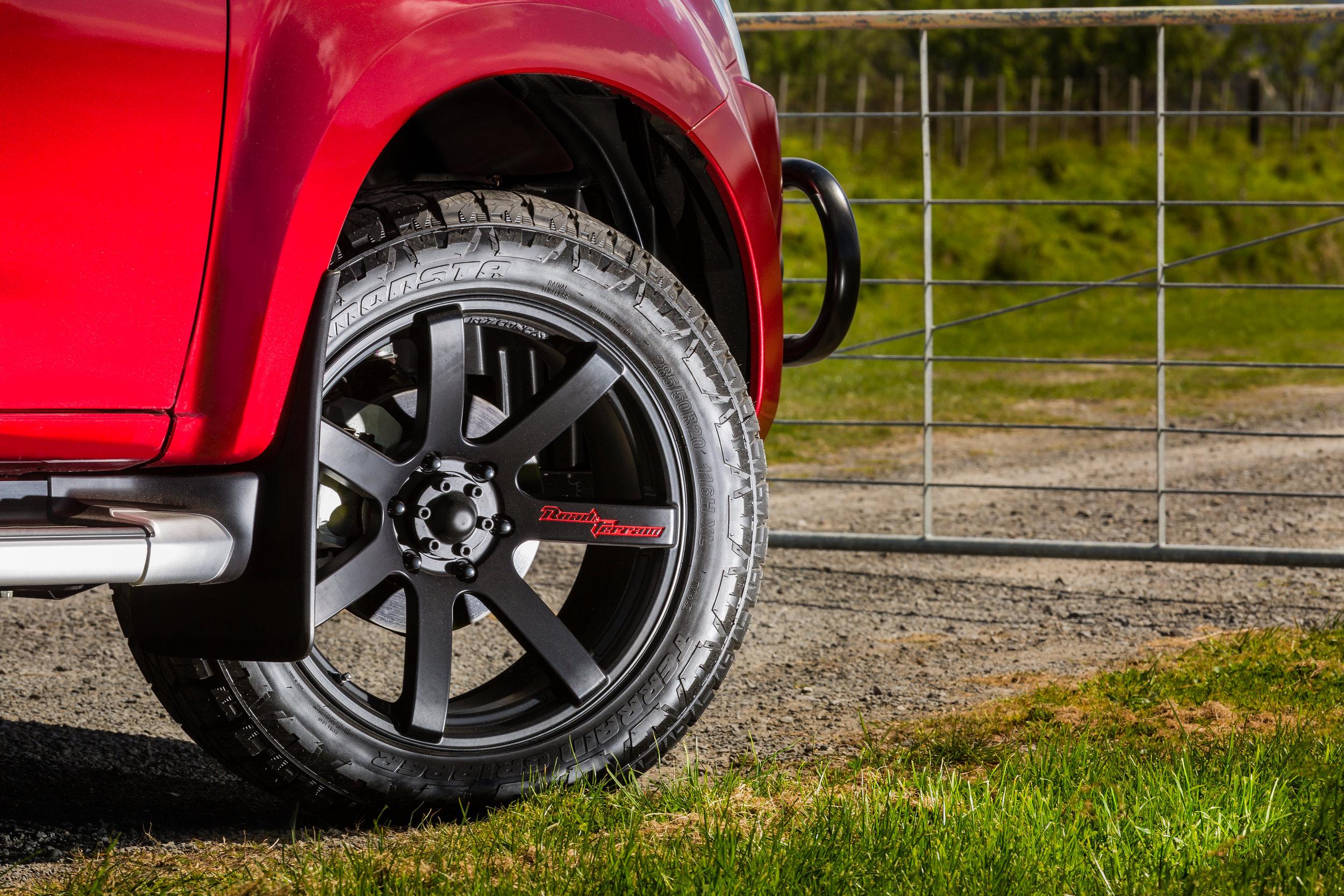 Isuzu D-Max wheel and tyre detail