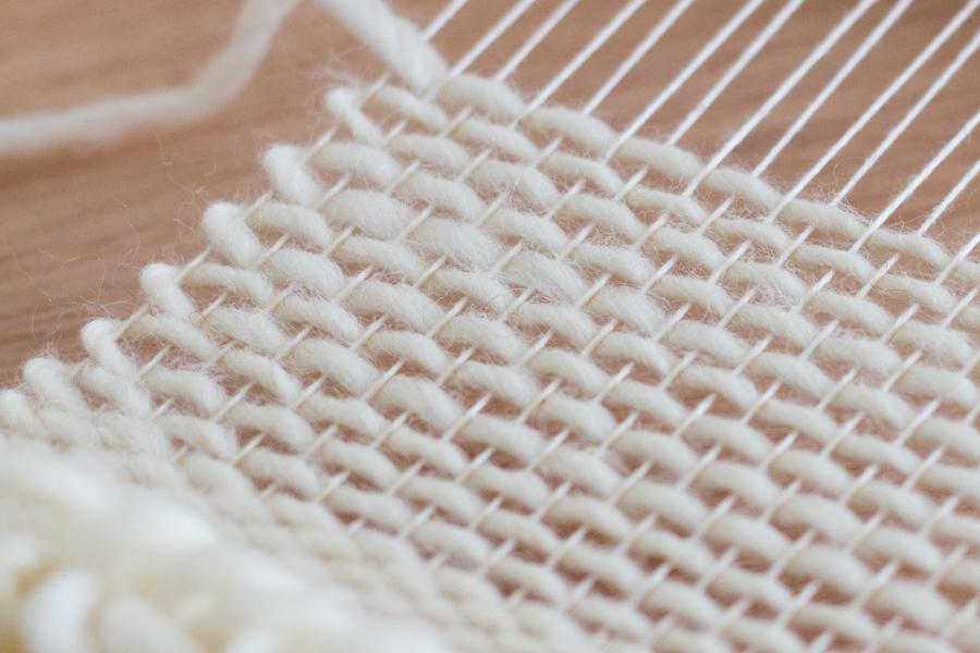 Weaving close-up