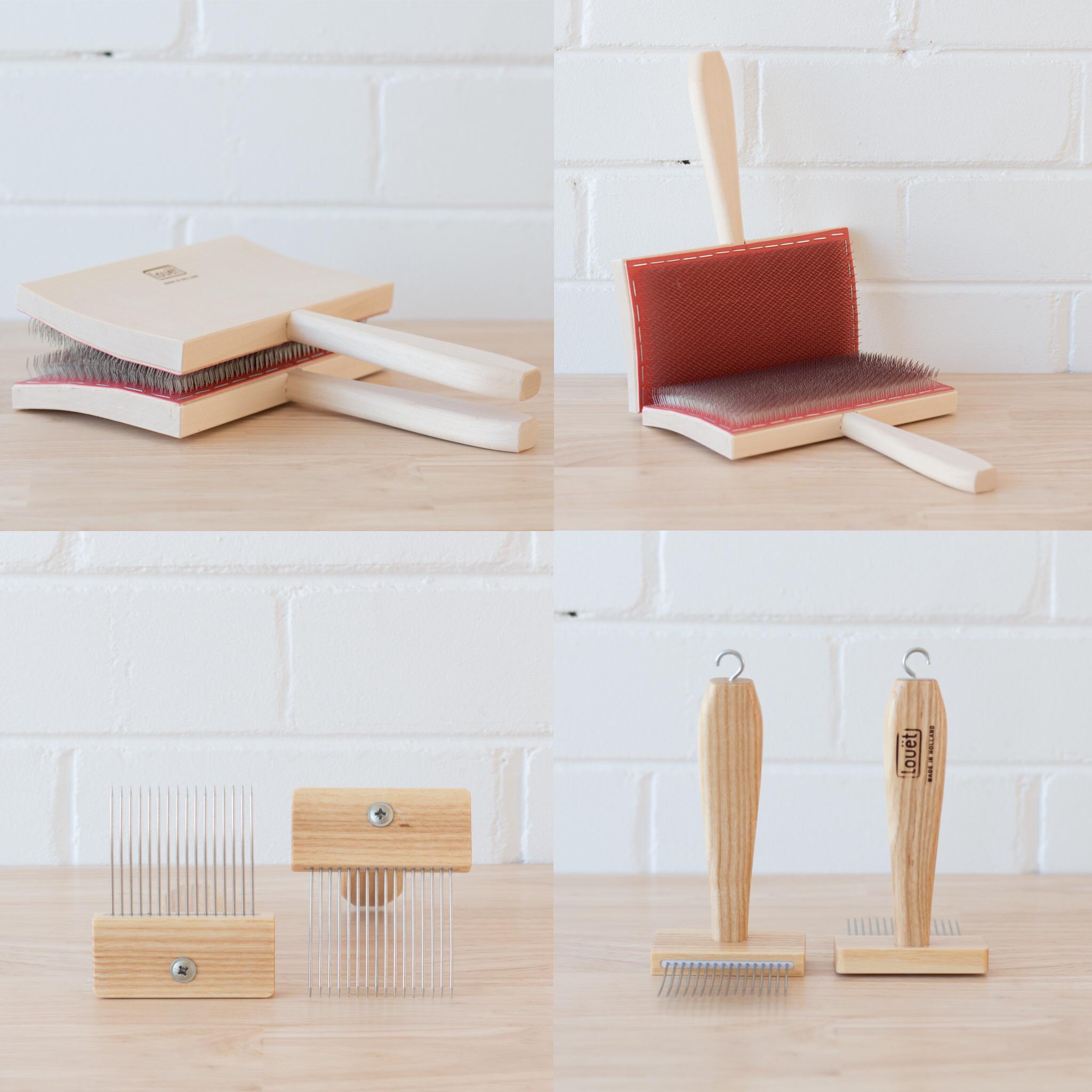 Loom & Spindle - Louët Fibre Prep Tools.JPG