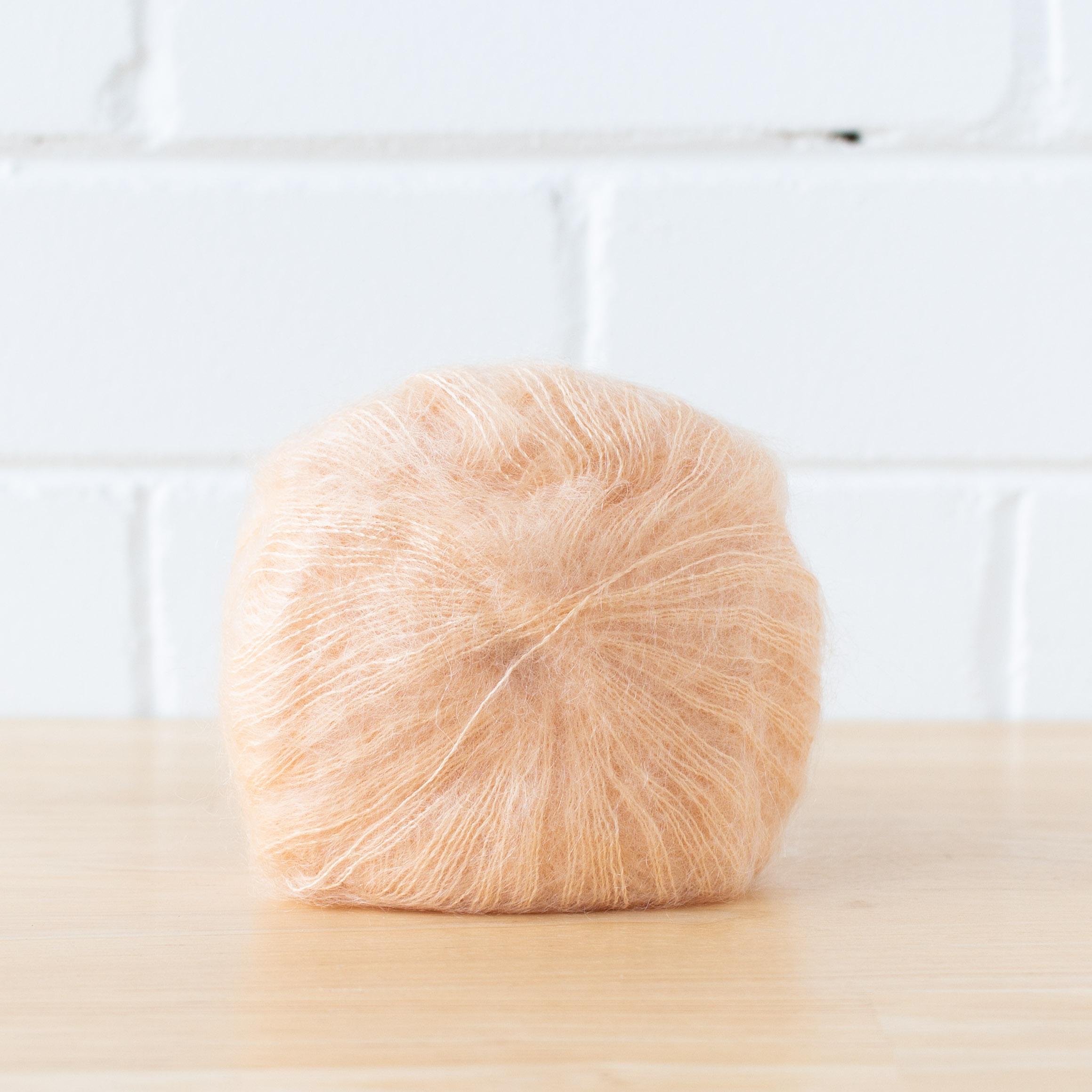 Loom & Spindle - Kremke Soul Wool - Silky Kid - Peach-2.jpg