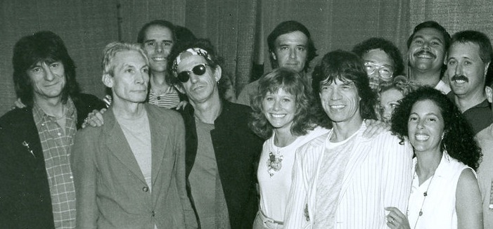 Rolling Stones and Marty Eck back in the 1980s.