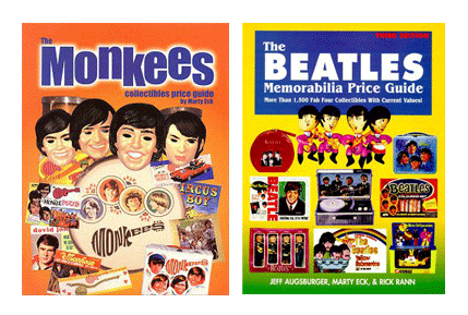 Marty Eck published ' The Monkees Collectibles Price Guide ' and ' Beatles Memorabilia Price Guide '.