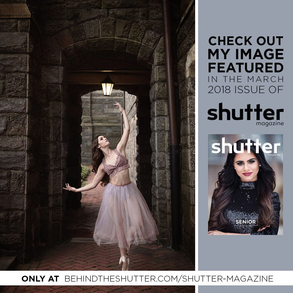 Alexa's image being featured in the International Shutter Magazine's March edition 2018