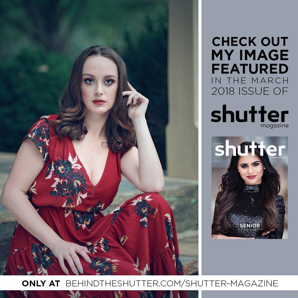 Rachel's image being featured in International Shutter Magazine, March - 2018