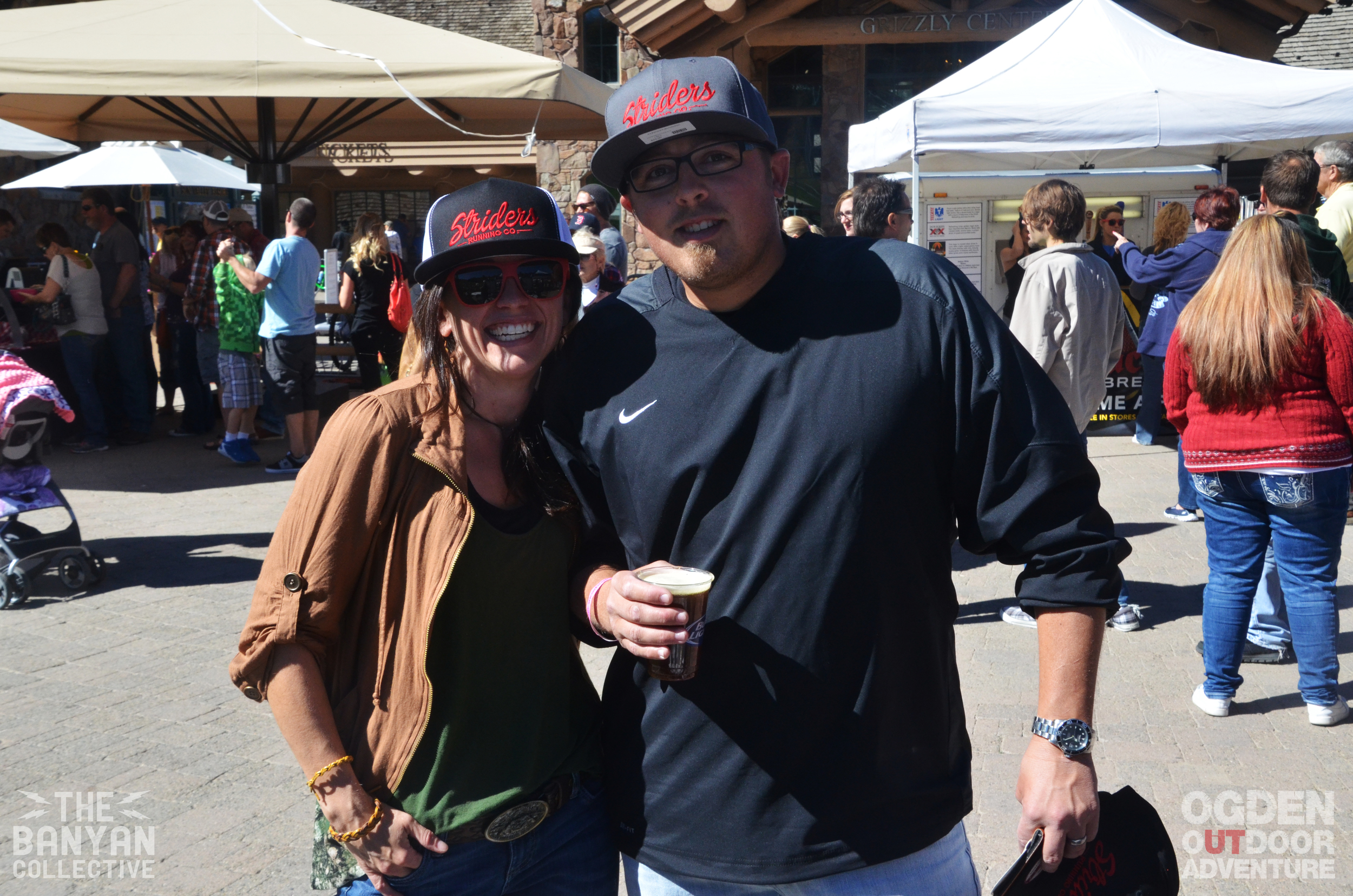 Debbie and Lane Farka at the 2014 Snowbasin Beer Festival
