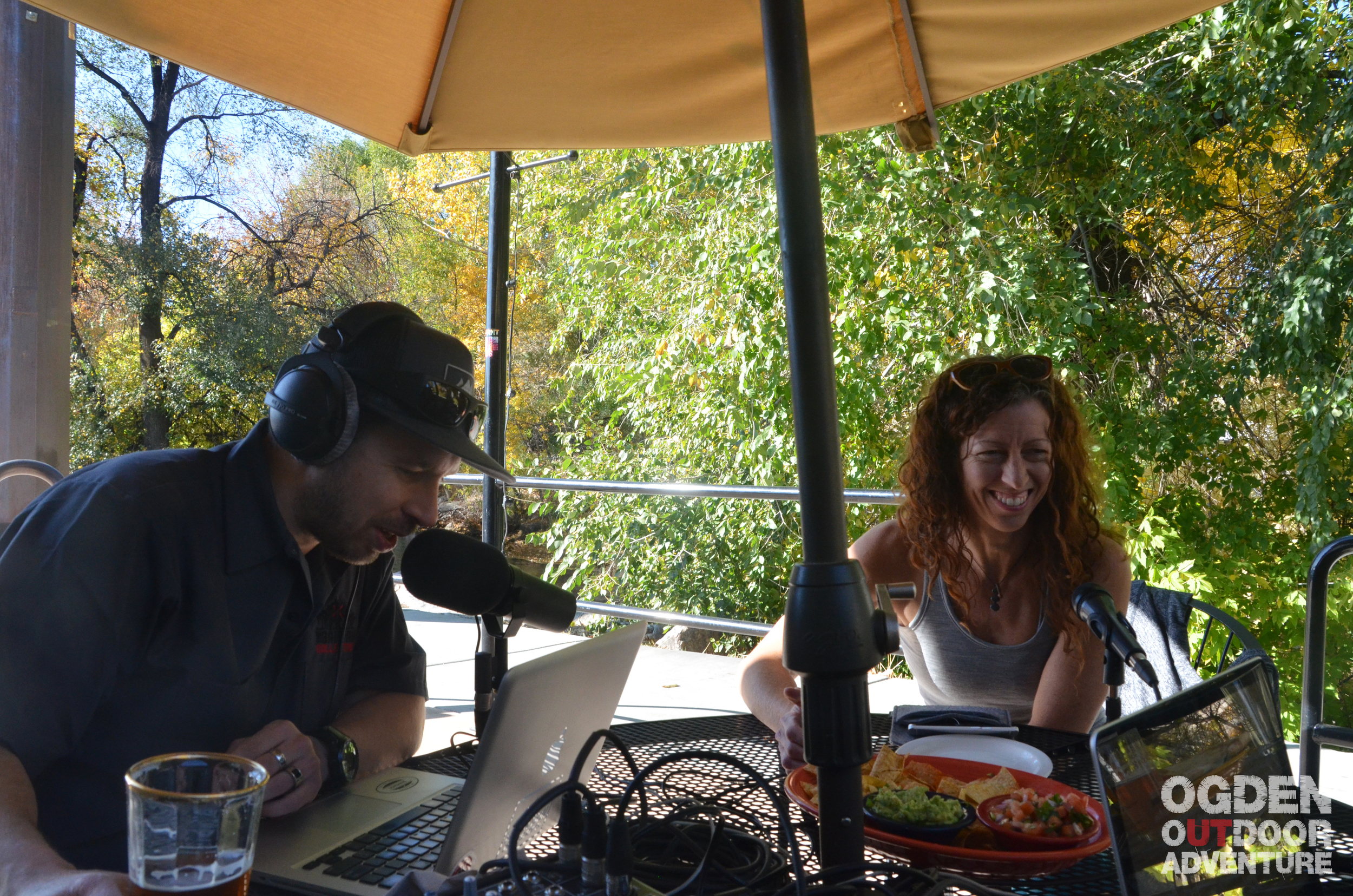 Maggie Smith-Odette chatting climbing, training, and yoga on the Ogden Outdoor Adventure Show.