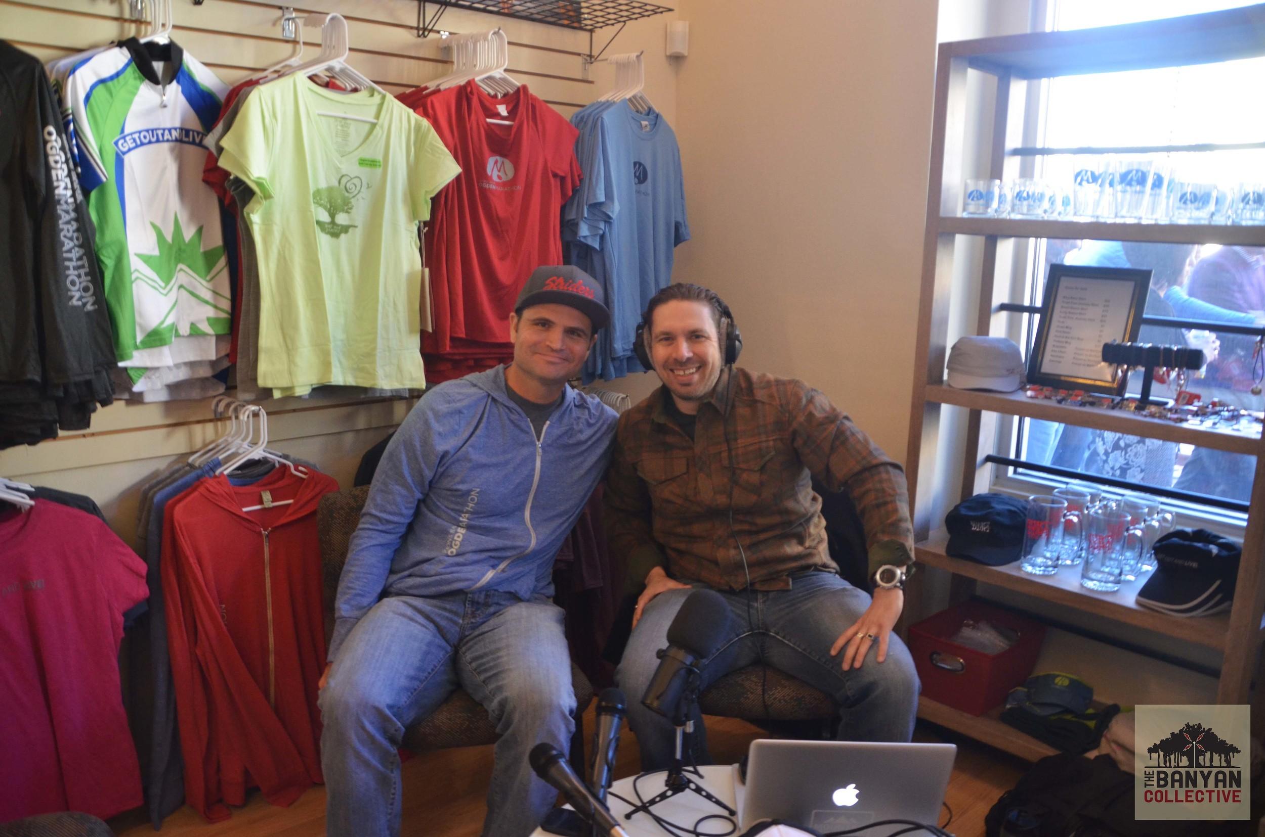 MR. Goodyear's Neighborhood Hosts John Wojciechowski and R. Brandon Long.