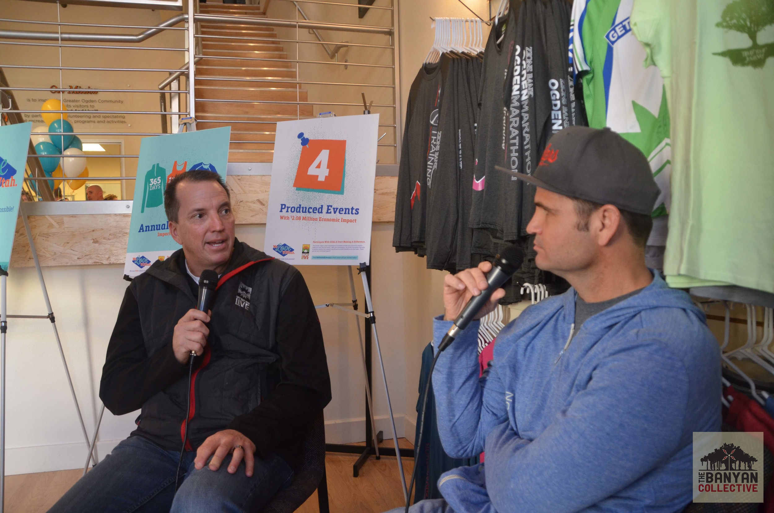Kevin Burns with Host MGN John Wojciechowski