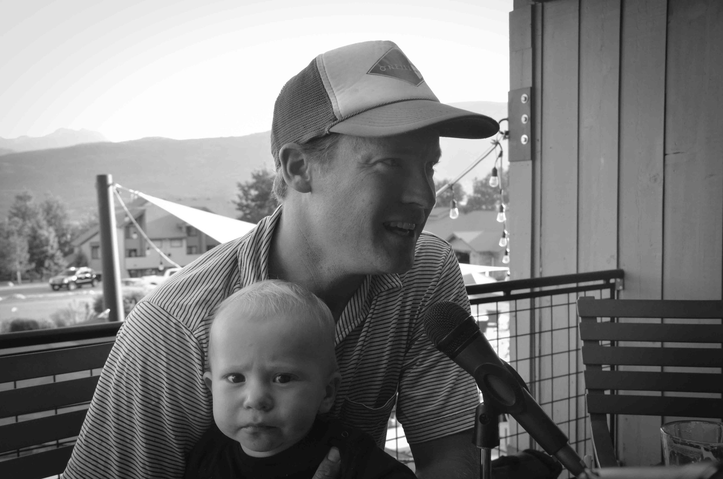 Pete Rasmussen and son.