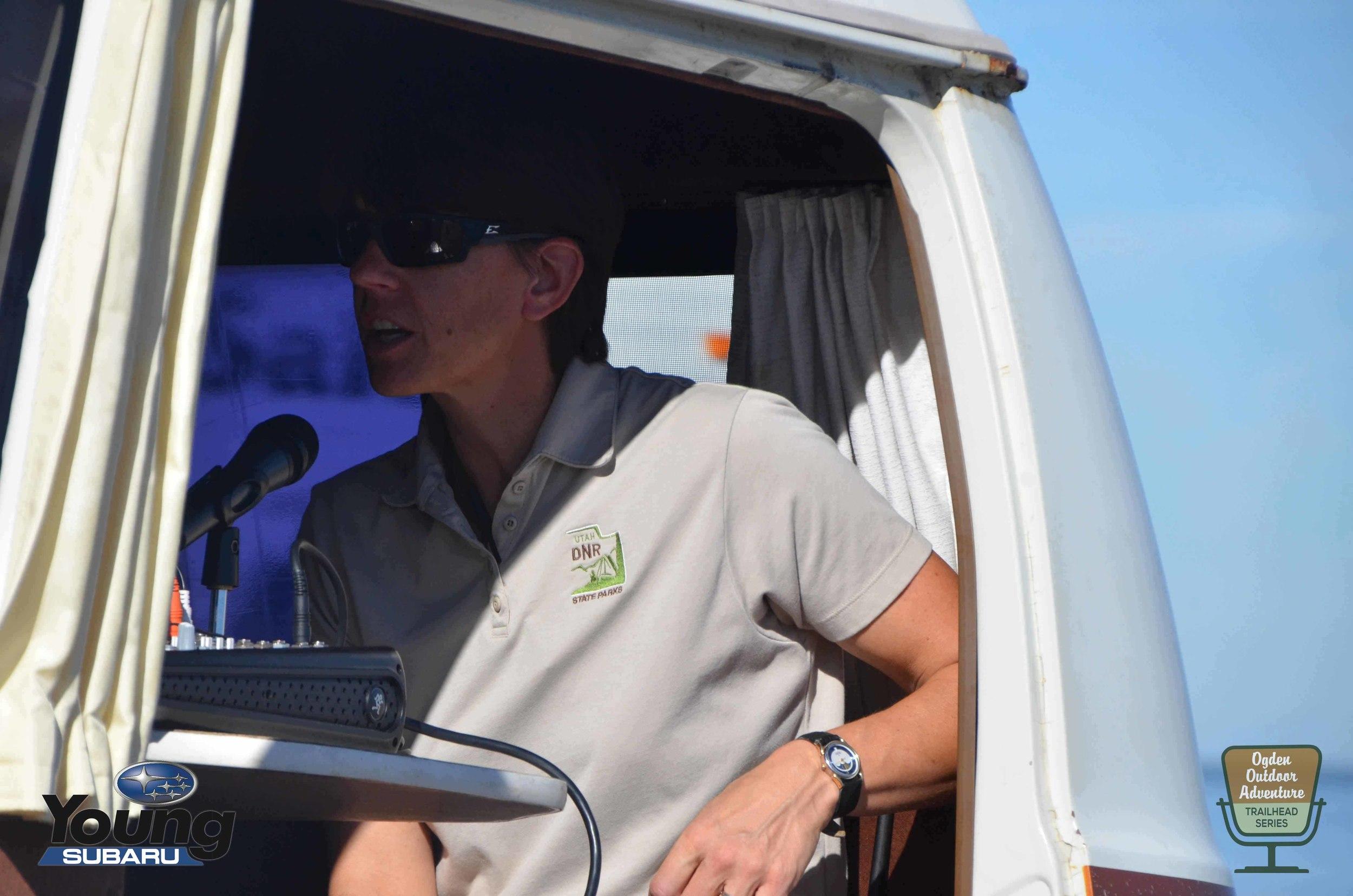 Utah Division of Natural Resources &Antelope Island Resident Naturalist,Wendy Wilson