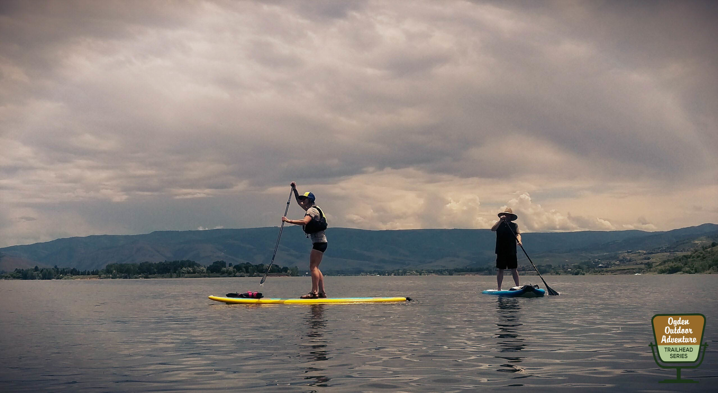 Jacquie and Todd to the Top SUP'ing Pineview