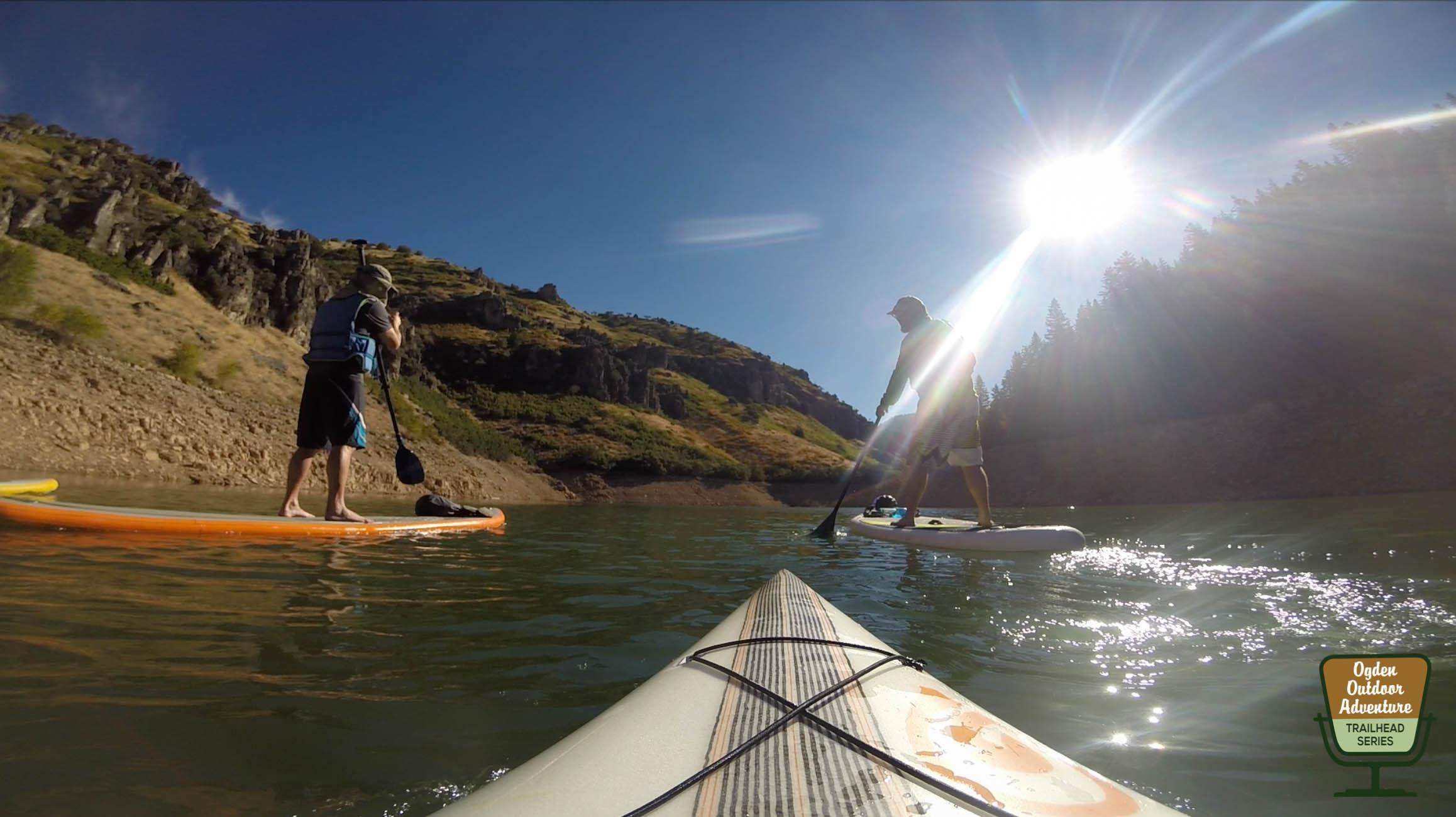 Friends Ben & Joe paddling Causey in search of Kokanee