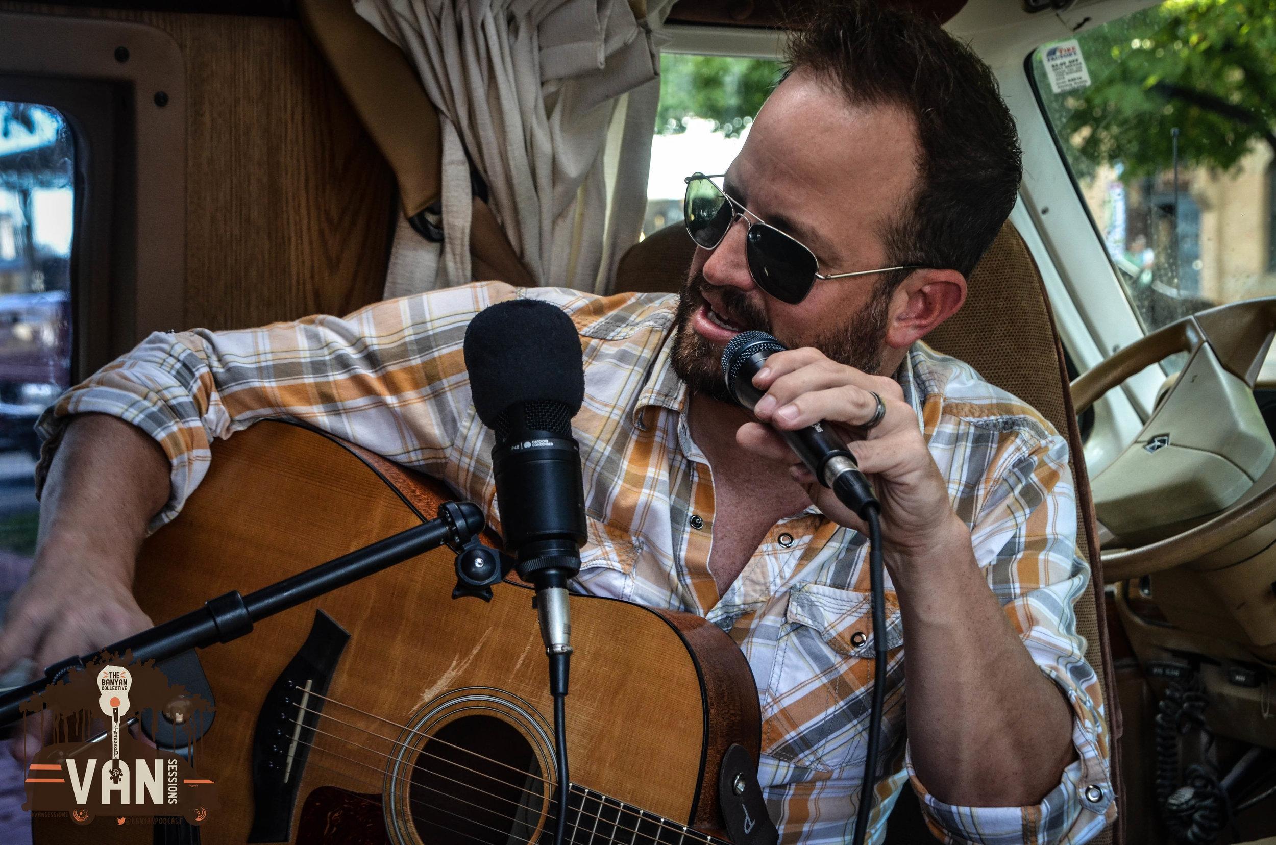 Dustin Wayne of the Wayne Hoskins Band during #VanSessions