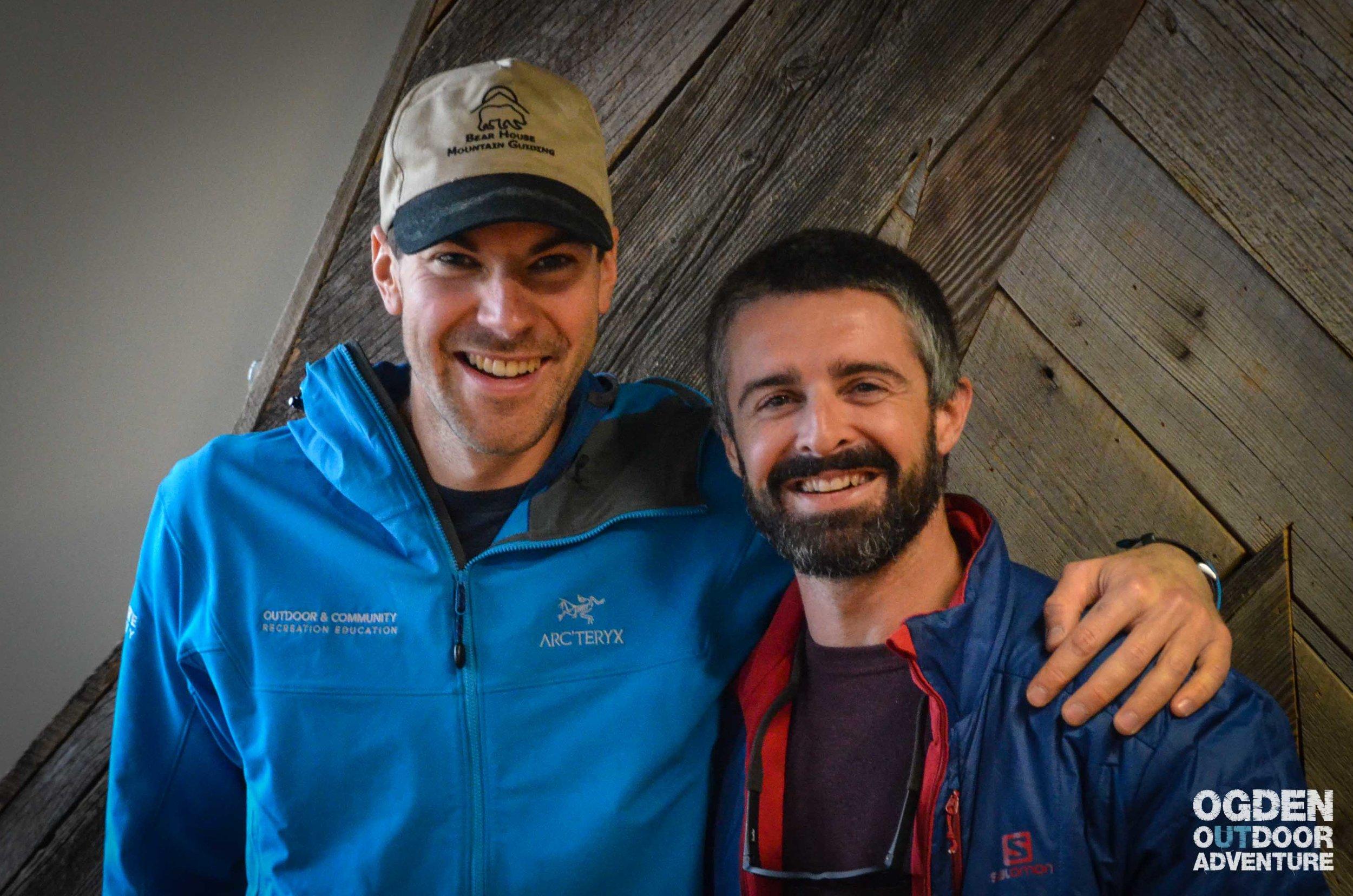 Derek DeBruin of Bear House Mountain Guiding and J.T. Robinson of Vertical Integration