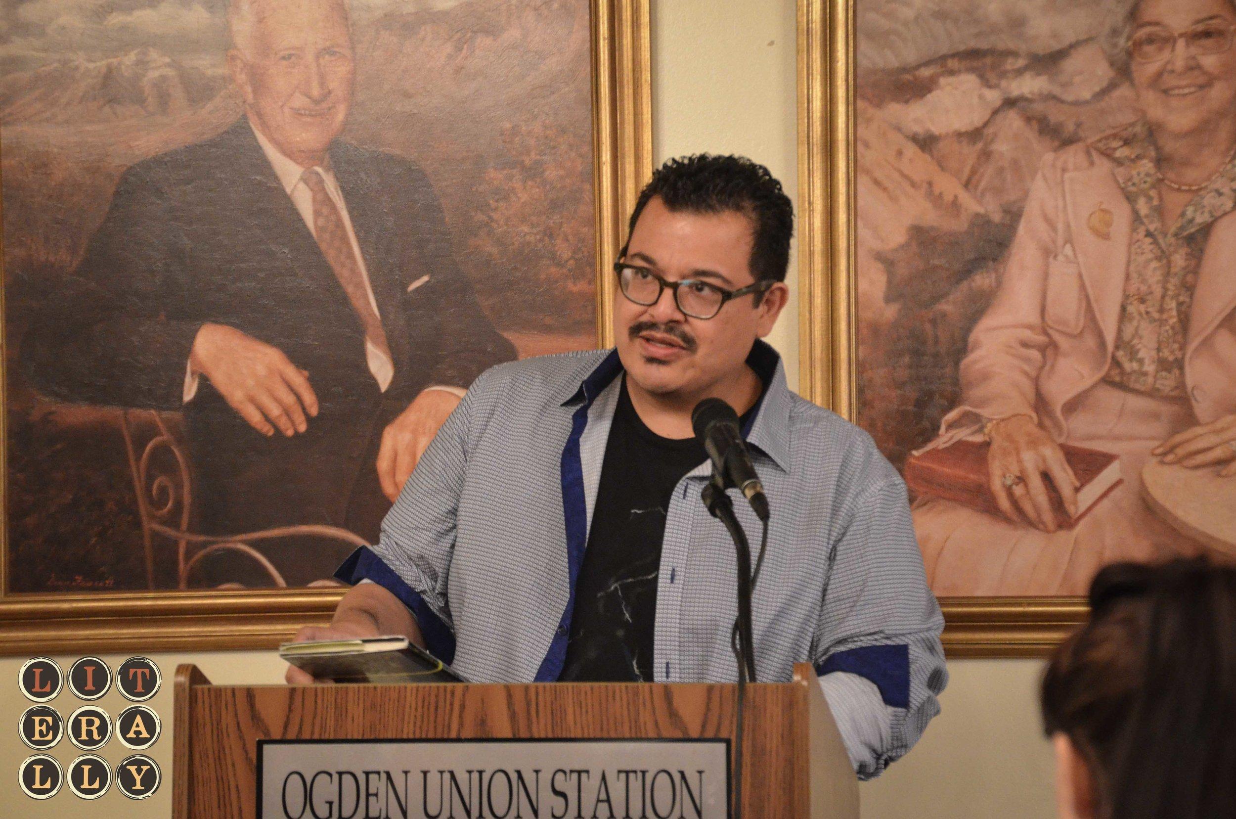 Eduardo C. Corral during the Utah Humanities Book Festival