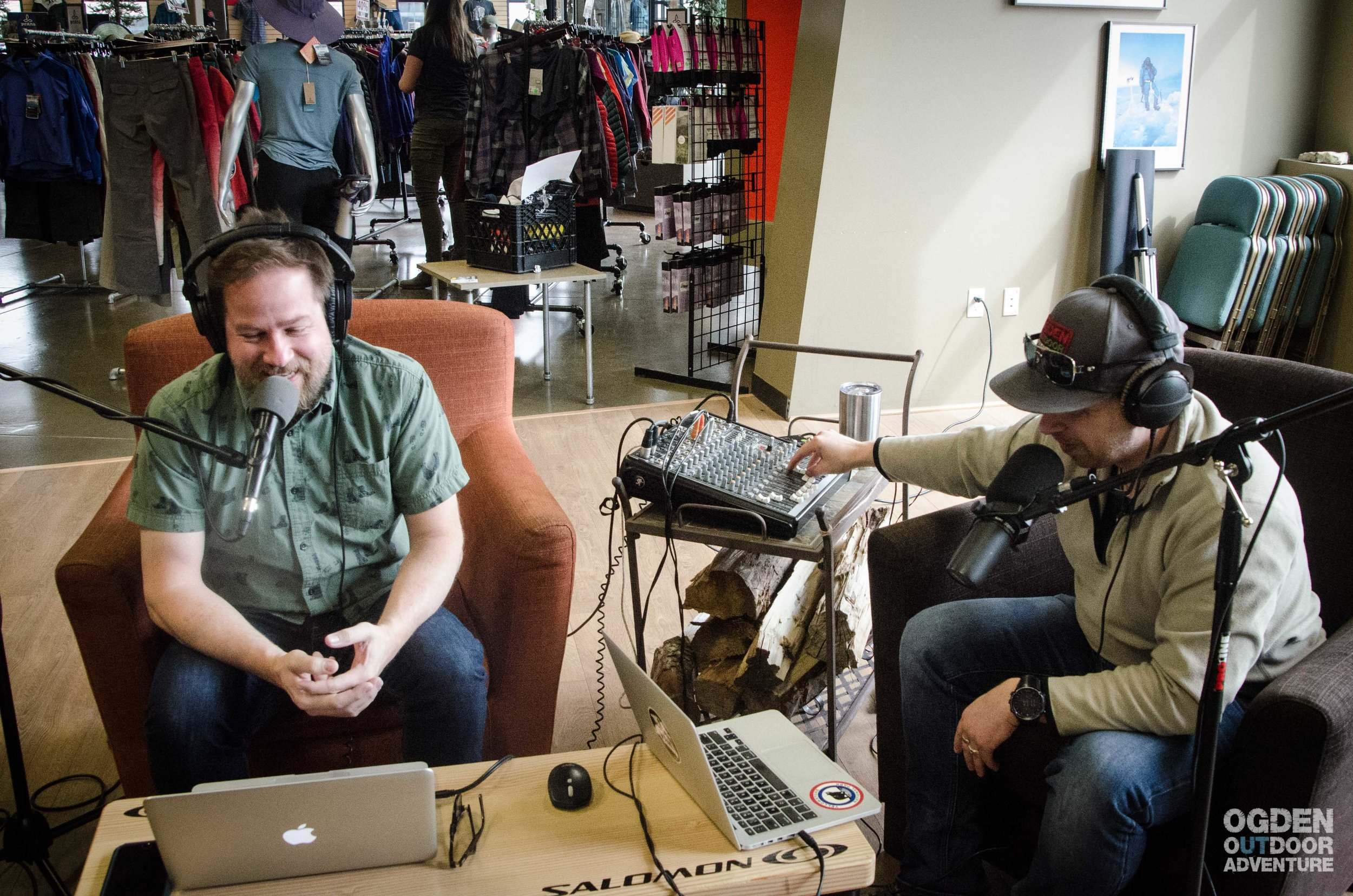 Podcasting in the GEAR:30 Lounge.