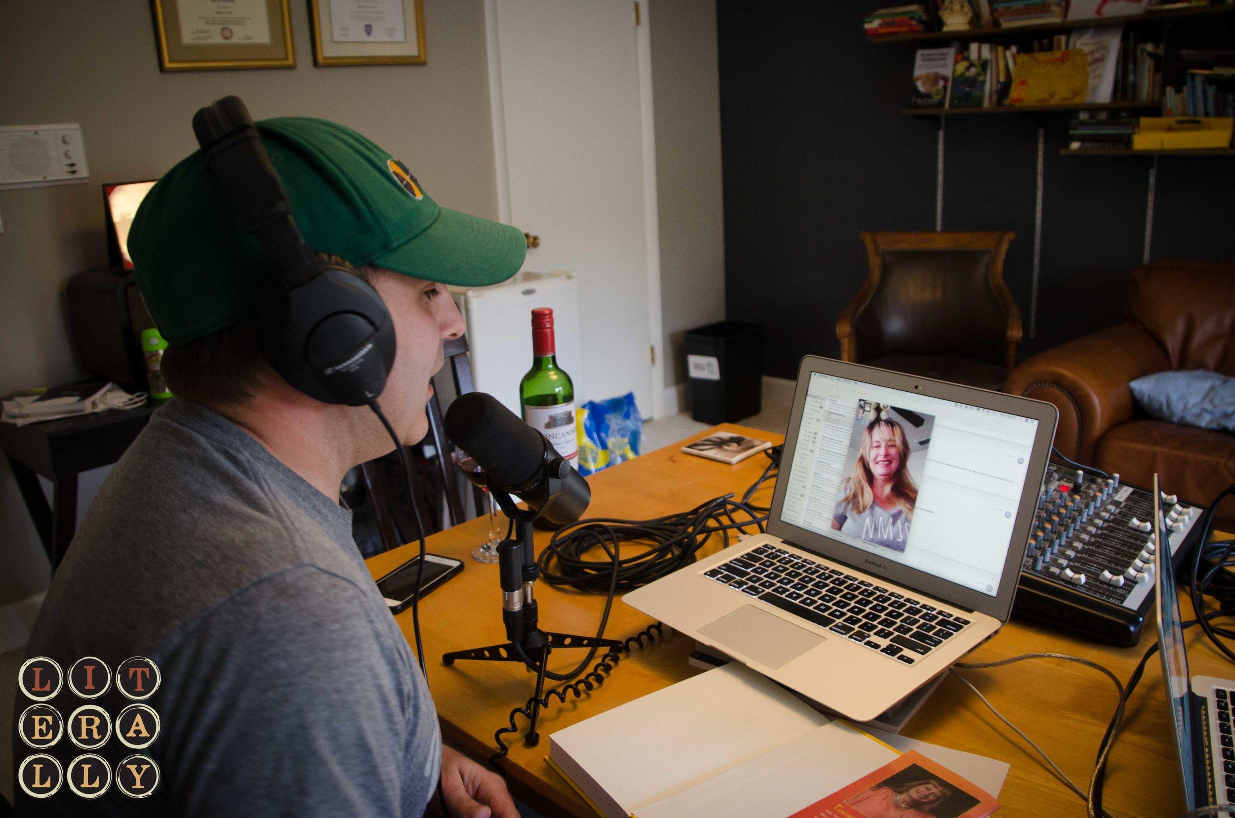 Host Kase Johnstun interviewing guest author, Teresa Dovalpage.