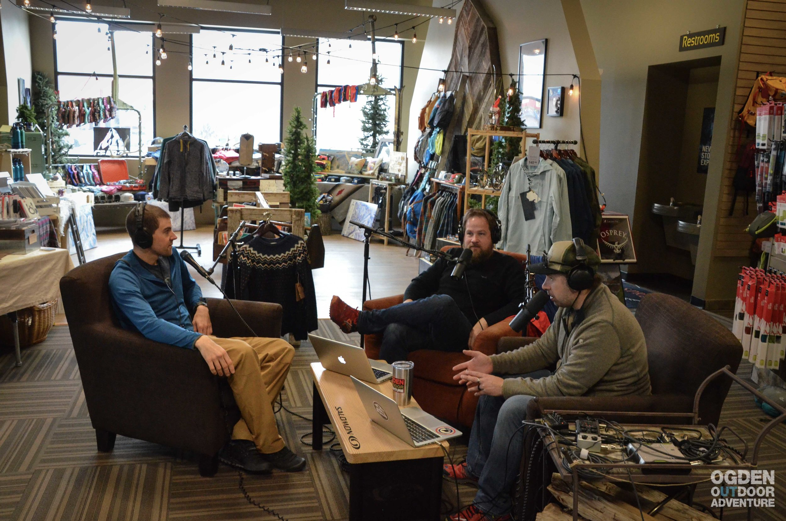 Podcasting at GEAR:30, Ogden's Mountain Shop