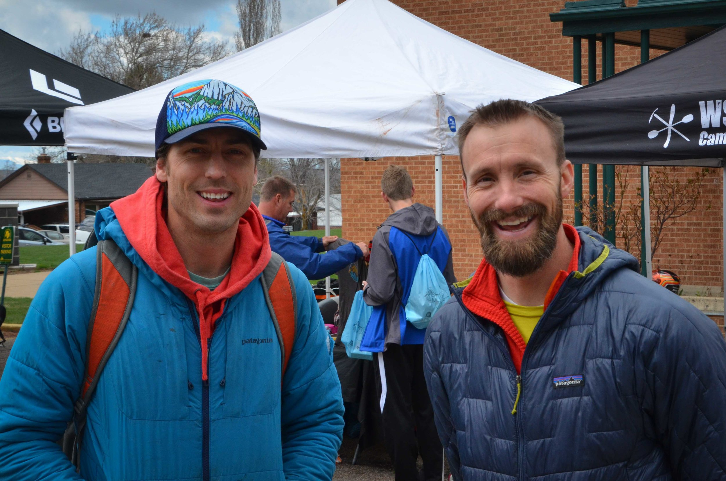 Sonnie Trotter and WSU Outdoor Program's Daniel Turner at the 12th Annual Ogden Climbing Festival