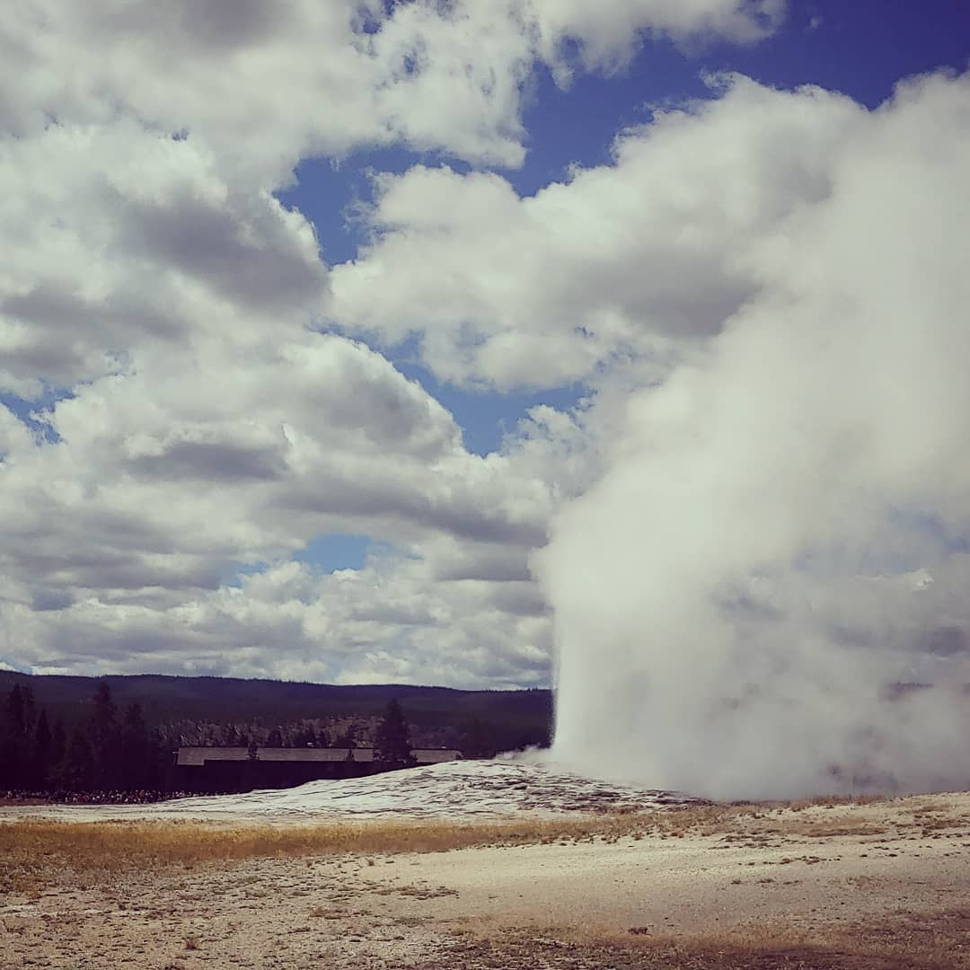 Old Faithful, Yellowstone National Park - August 12th, 2019