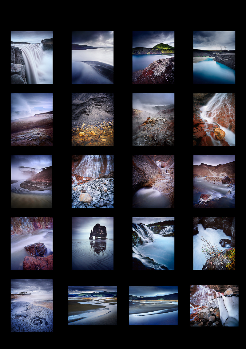 Contact sheet of images shot in the central highlands and north east of Iceland this September. Images © Bruce Percy (Mamiya 7 Mk1 camera with 43, 50, 80, 150 and 210 lenses)