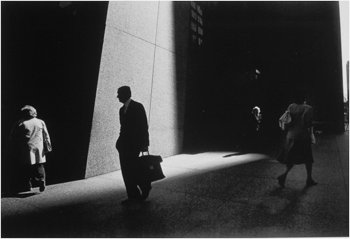 Ray Metzker's use of sunlight and shadow was masterful.   Image © Ray   M  etzker