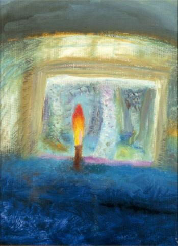Candle, Isle of Eigg. Painting by Winifred Nicholson (1893 - 1981)