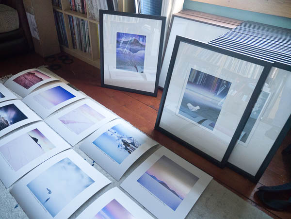 Prints and frames, December 2016 for upcoming exhibition.