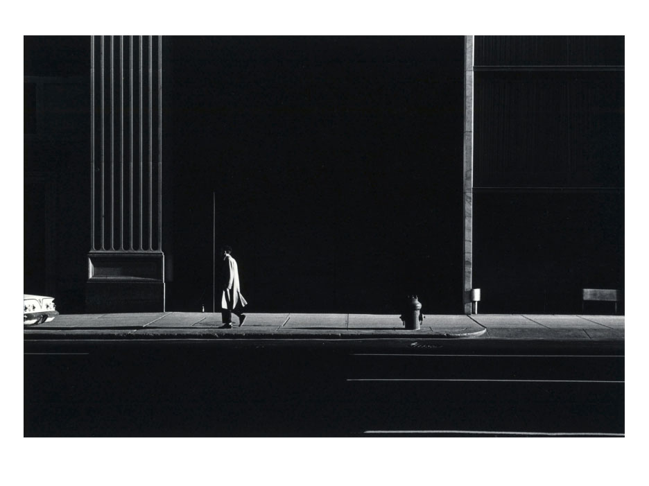 Image © Ray Metzker. This is really a study of vertical lines and two or three discreet tones.