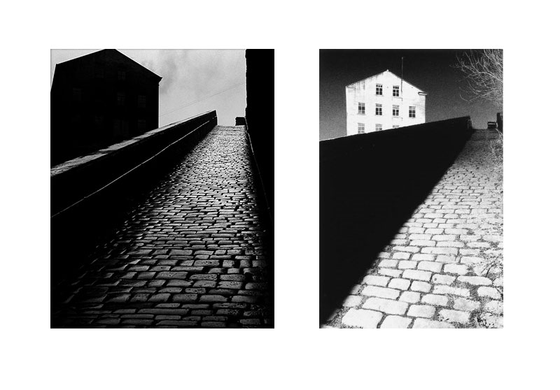 Image Left: © Bill Brandt Image Right © Michael Kenna (titled 'Bill Brandt's Snicket, Halifax, Yorkshire)